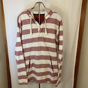 Men's KREW Striped Hoody Size Large